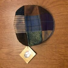 Hanna Hats Men's Tweed Patchwork Newsboy 100% Wool Made In Ireland Large