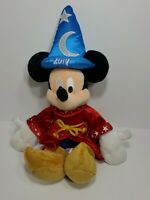 "Disney Parks 2017 Sorcerer 19"" MICKEY MOUSE Plush Fantasia Stuffed Animal Wizard"