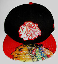 MENS NEW ERA CHICAGO BLACKHAWKS SNAPBACK CAP ADJUSTABLE HAT SIZE M/L