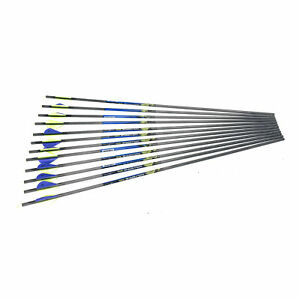 """Carbon Express Wolverine 26""""/28"""" Fletched Arrows for 30-50 lbs 12/PK (No Tips)"""