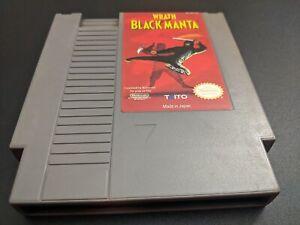 Ira De The Black Manta Auténtico Nintendo Nes Nrmt Estado Cartucho de Juego