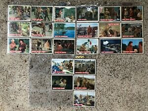 DAVY CROCKETT Lot 23 of 80 Partial Set 1950s Topps Orange Back Cards vtg Disney