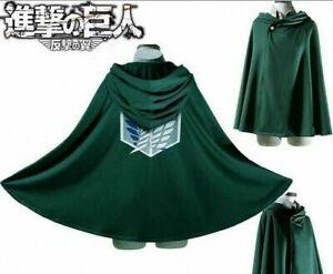 Cosplay Anime Shingeki No Kyojin Cloak Cape Attack On Titan Clothes Free Size SM