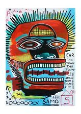 """BEAUTIFUL """"Jean Michel BASQUIAT"""" hand made, not reproduction  painting."""