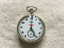 Made in USSR Molnija 18 Rubis Mechanical Wind Up Vintage Pocket Watch