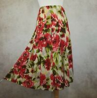 Per Una Floral Skirt Size UK 10 M&S Marks and Spencer