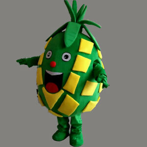 Advertising Pineapple Mascot Costume Suit Halloween Birthday Party Dress Adults