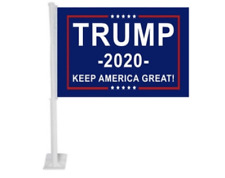 ONE Trump  Car Flags 2020 WITH Stick Durable Flag Single-Sided 12x18 FREE SHIP