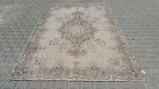 Oushak 7x10, Turkish Rug,vintage,anatolian,BEIGE,kilim,Bohemian,handmade,wool