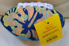 """Mini 6"""" Blue Football, Water Proof Soft Covering for the pool - blue, yellow New"""