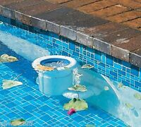 PoolSkim Pool Leaf Skimmer Automatic Pool Skim leaves weir devil net basket bag
