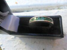 Vintage  18ct White Gold  Emerald Brilliant  Baguette Cut Channel Set Ring