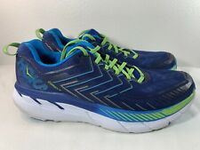 Hoka One One Clifton 4 Blue Green Road Athletic Running Shoes Mens Size 11.5