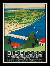 Bideford For Westward Ho! - Framed 30 x 40 Official Print