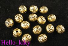 60Pcs  Antiqued gold plt Crafted barrel spacer beads A470