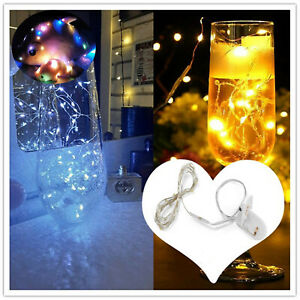 2m 20LED String Fairy Lights Copper Wire Battery Powered  Home Party DIY Light K