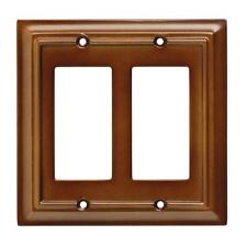 W10769-SDL Saddle Brown Architect Single Double GFCI Wall Cover Plate