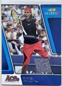 2008 Ace Authentic RAFAEL NADAL 06/69 Match-Used Jersey SP US Open