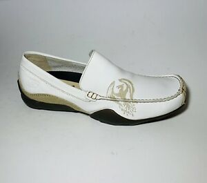 Skechers Phoenix Leather Driving Loafers White. Men's 11.