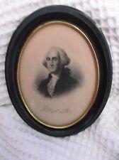 George Washington U.S. President Portrait Oval Frame