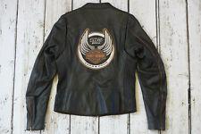 Harley Davidson Women's 105th Anniversary Black Leather Jacket S 97105-08VW RARE