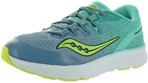 Saucony Kids Freedom ISO Running Shoes, Grey/Teal, 3.5 M US Big Kid
