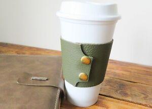 Travel Cup Sleeve Coffee Starbucks 3rd Leather Wedding Anniversary Coffee Lovers