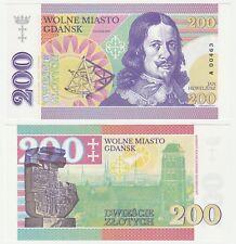 Poland 200 Zlotych 2017 UNC SPECIMEN Test Note Gabris Banknote