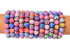 Wholesale Lots 12pcs FIMO polymer clay 12mm Bead Girl's Stretch Bracelets New