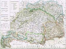 🎄🕯WEIHNACHTEN🕯️ 174 Jahre alte Landkarte UNGARN Karpathen Transsylvanien 1844