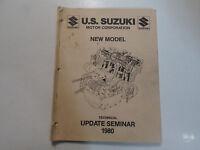 1980 Suzuki New Model Technical Update Seminar Manual MINOR STAINS FACTORY OEM