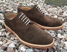 RUSSELL & BROMLEY BROWN SUEDE DERBY SHOES SIZE 6(uk) 40euro BARELY WORN