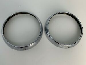 2 Volvo P1800 1800 Jensen 1800S 1800E ES Head Light Bezels 1961-1973