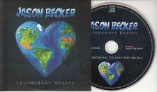JASON BECKER Triumphant Hearts Dutch 14-track promo CD Steve Vai Joe Bonamassa