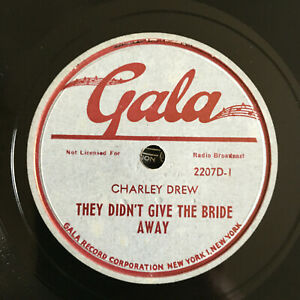 78 rpm PARTY RECORD Charley Drew Give Bride Away Fleets In Today 1947' E jukebox