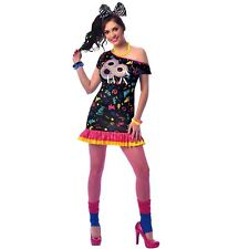 Ladies UK 10-12 Disco Diva 80s Girl Costume Fancy Dress Adult Retro 1980s Womens
