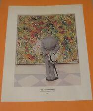 Norman Rockwell THE CONNOISSEUR & CHEERLEADER 1961 Original Book Pressing Print