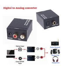 LIQUIDACION - ADAPTADOR CONVERSOR AUDIO DIGITAL OPTICO A ANALOGICO COAXIAL RCA
