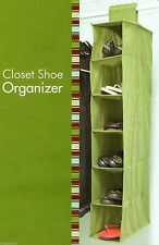 "6 Shelf Shoe Organizer 5"" x 36""   Hook & Loop Attach to Closet Rod # 01107"