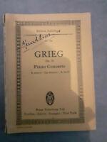 N°726 - Piano Concerto - Edvard Grieg - Edizione Eulenburg