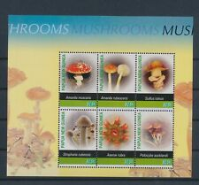 LM12536 Papua New Guinea plants flora nature mushrooms sheet MNH