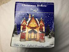 Christmas Streets Fiber Optic Lighted Porcelain House