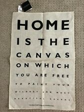 Ulster Weavers Linen Fabric Kitchen Tea Dish Towel Nwt Optometrist Eye Chart