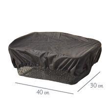 Regenschutz für Fahrradkörbe - Regenhaube in schwarz