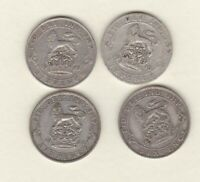 FOUR 1916/1918/1924 & 1926 GEORGE V SILVER SIXPENCES IN FINE CONDITION