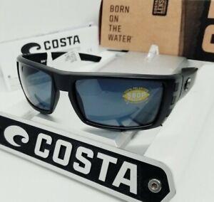COSTA DEL MAR blackout/gray RAFAEL POLARIZED 580P sunglasses! NEW IN BOX!