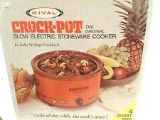 Vintage Rival Crock Pot Slow Cooker 4 Qt Model 3104 in Harvest - NEW Sealed