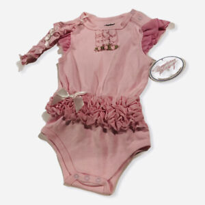 Stephan Baby Embroidered Snapshirt 6-12month Pink Tutu NWT