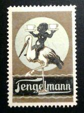 Cinderella Poster Stamp Reklamemarke-Tenglemann -Stork & Baby & Cups-202028