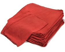 "1000 INDUSTRIAL SHOP CLEANUP RAGS / TOWELS RED 12''X12"" to 14""x14"" - HIGH GRADE!"
